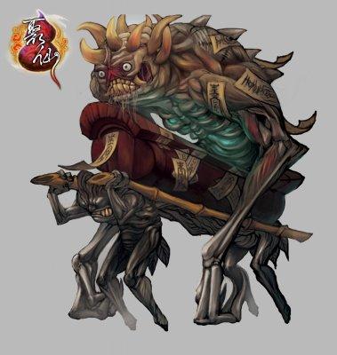 怪物设定僵尸王图片