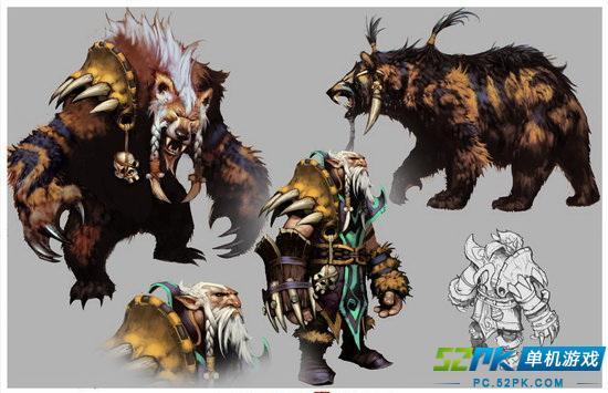 我们认为应该和大家分享一下接下来更新的三个英雄的设定:德鲁伊,狼人