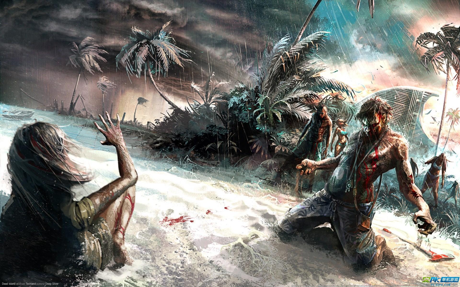 死亡?y?#_恐怖僵尸游戏死亡岛高清壁纸