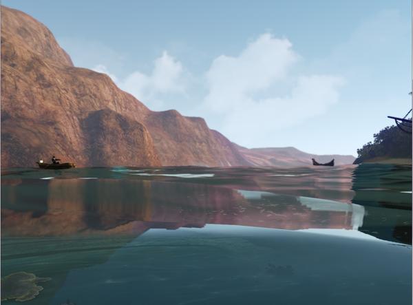 清澈的湖面
