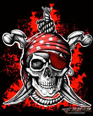 CF击杀图标 超帅海盗骷髅杀敌图标