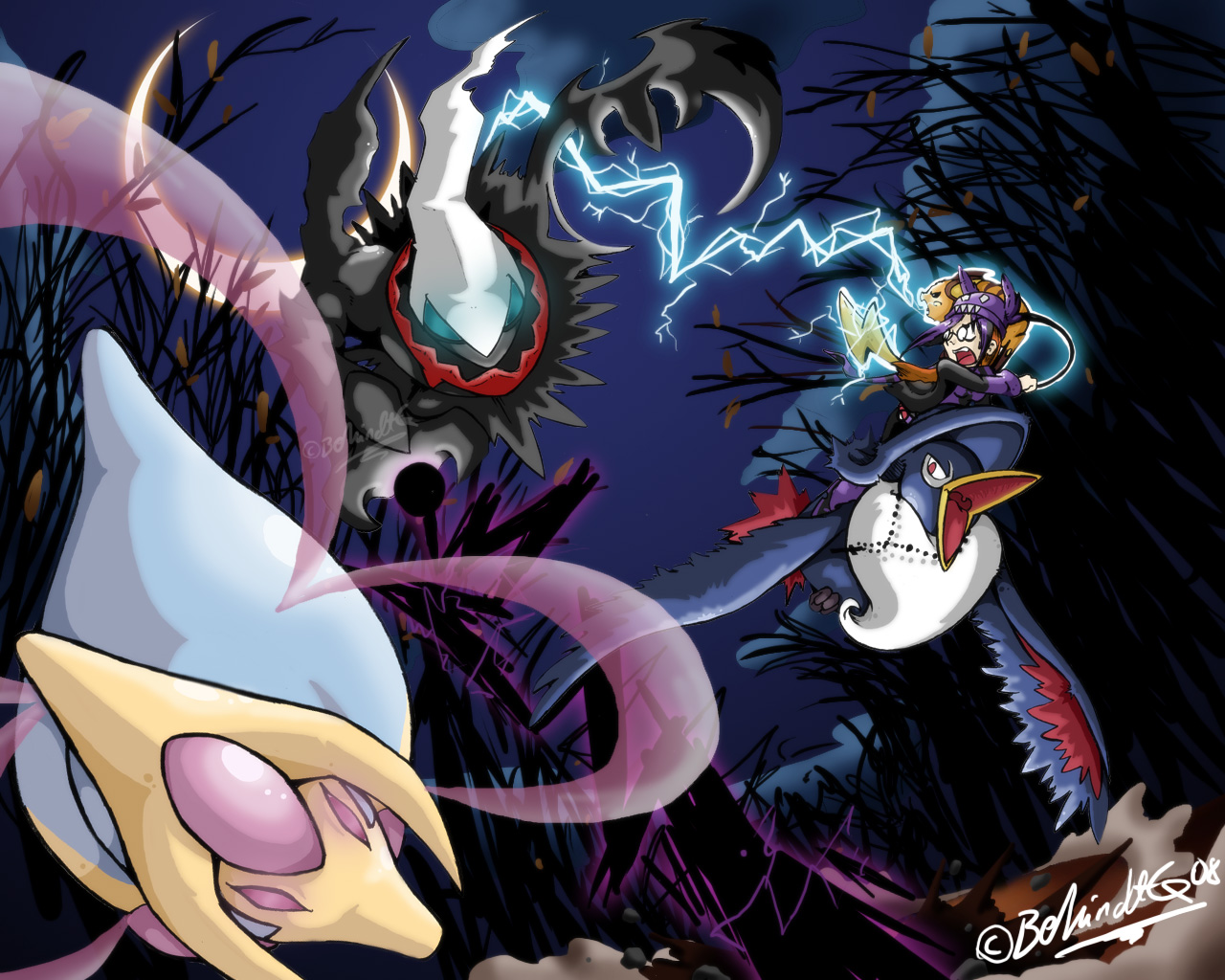 口袋妖怪XY最新游戏壁纸欣赏 精灵间的对决