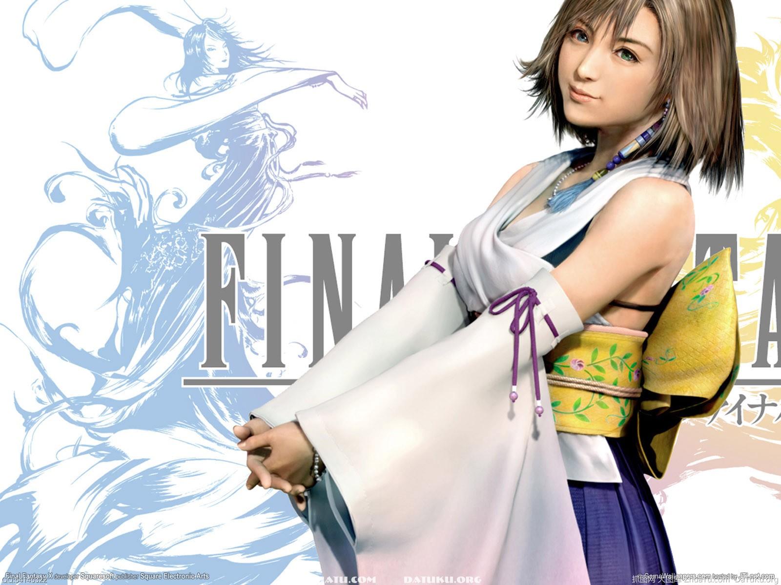 最终幻想10最新游戏壁纸鉴赏 尤娜的魅力