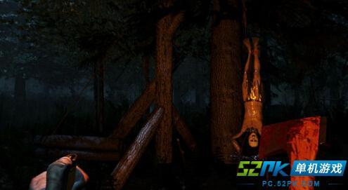 森林游戏中玩家被野人抓回山洞的逃命方法图片