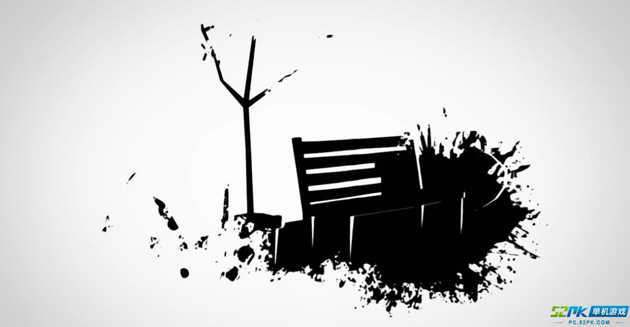 文艺黑白简笔画图片花分享展示