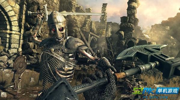地狱突袭火爆实机演示 持巨斧怒砍骷髅守卫
