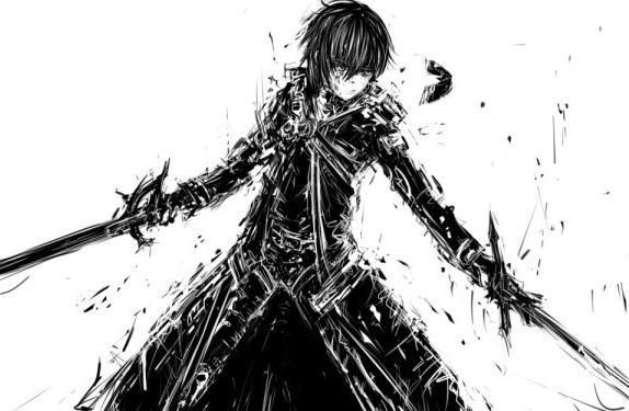 刀剑神域里桐人是双刀流还是双剑流,为什么桐-202KB-刀剑神域第二