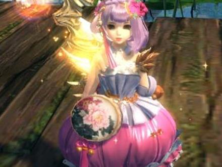 笑傲江湖OL 粉嫩嫩的小公主染色时装搭配