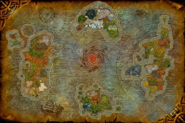 点开看大图 像素14359*9566的艾泽拉斯地图