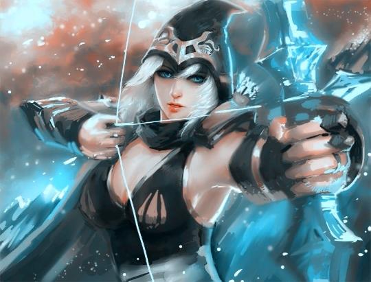 游戏寒冰艾希攻略归来一秒九箭新版RANK统治平民女王抽卡王座图片
