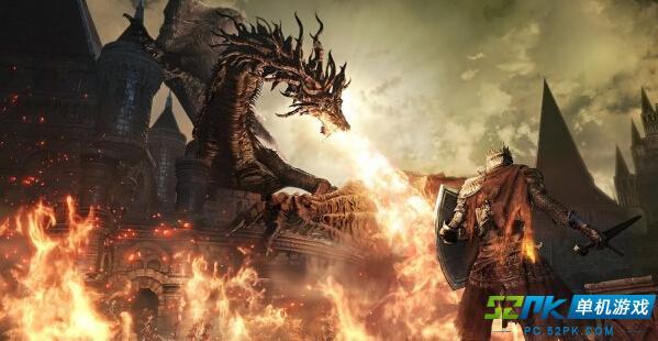 黑暗之魂3最新截图曝光 主角大战喷火巨龙