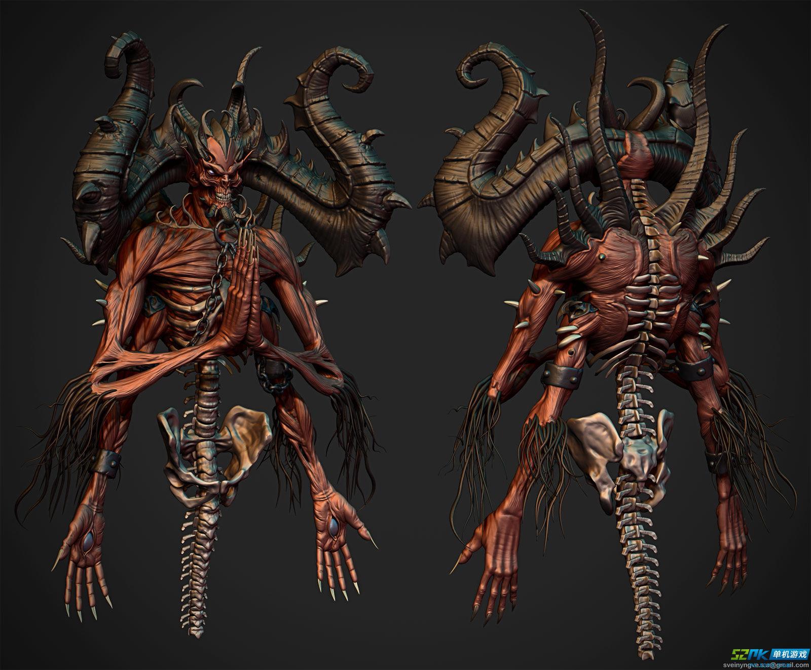 暗黑3玩家作品推荐 3D角色设计与迪亚波罗COS