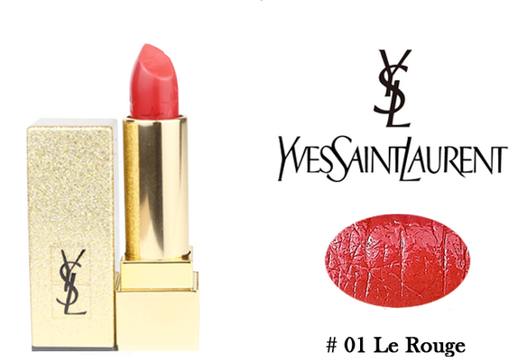 YSL2016圣诞星辰限量01 Le Rouge试色