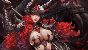 战斗吧剑灵卡牌原画之蛇蝎美人