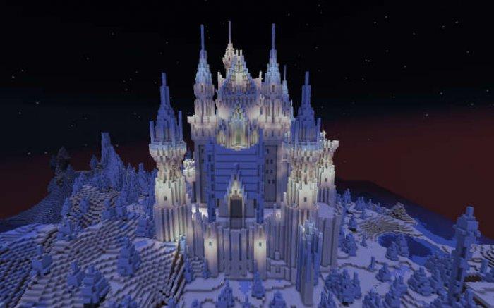 寒冰之地闪耀的冰城堡
