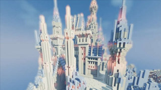 我的世界大神作品 寒冰之地闪耀的冰城堡