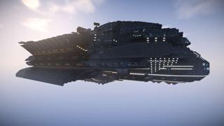 我的世界大神玩家作品 花费三年制作超级战舰