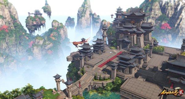 《仙侠世界2》游戏截图 主城凌霄城原画