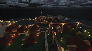我的世界中国版 玩家自建海滨度假区展示