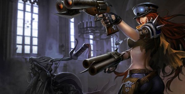 黑帮狂花和原画_英雄联盟将厄运小姐的6张原画进行了更新,包括黑帮狂花,荒野女警,圣诞