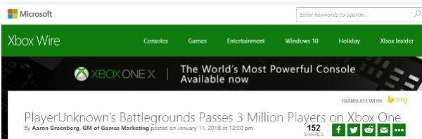 没有外挂的吃鸡世界 《绝地求生》Xbox版玩家破300万