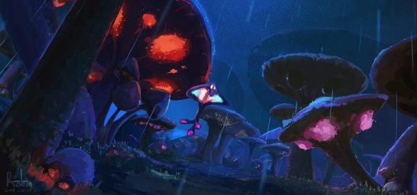 魔兽同人画作:摸出来的艾泽拉斯 赞加沼泽烟雨朦胧