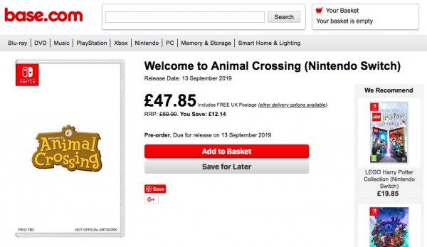 在线零售商疑泄露《动物之森》《路易鬼屋3》发售日