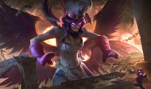 《英雄联盟》天使姐妹重做技能详情及皮肤原画公布