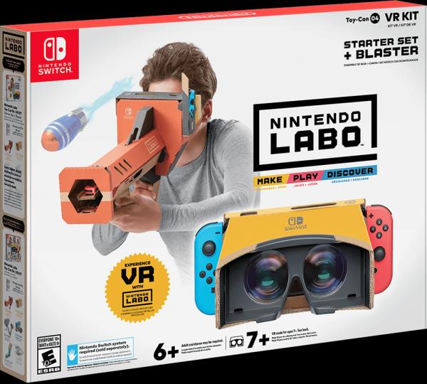 Switch也能玩VR 任天堂Labo VR套装4月12日发售