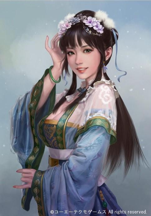 《三国志14》王元姬立绘公布 书香门第绝美人妻