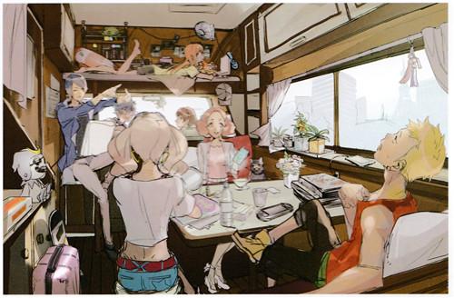 《女神异闻录5S》设定图展示:主角团的快乐旅行!