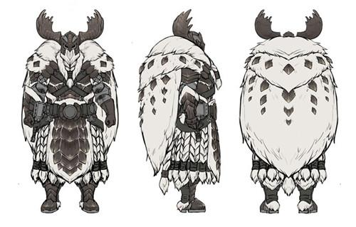 《怪猎世界:冰原》装备设计稿 冰咒龙套精致绝美
