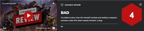 亚马逊网游《熔炉》IGN 4分 需要大翻修才能补救