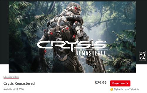 NS《孤岛危机-重制版》定价29.99美元 游戏现已延期