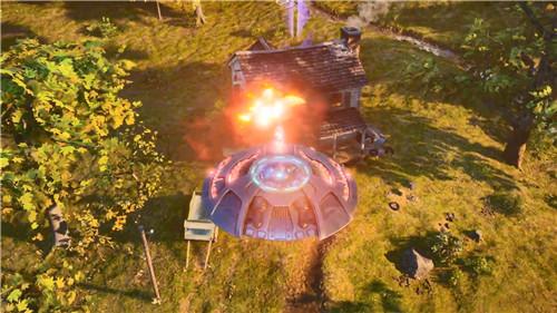 《毁灭全人类:重制版》新武器演示 驾驶飞碟大搞破坏