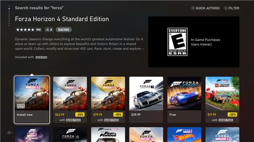 全新Xbox商店正式公开 更快、更简便、更安全