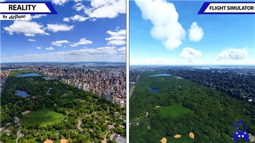 《微软飞行模拟》对比视频 游戏画面与现实场景难以区分
