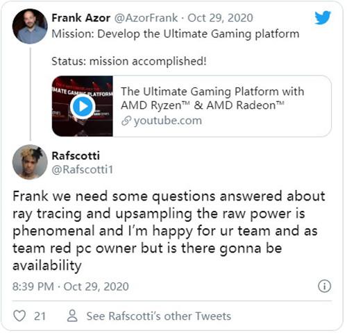 AMD承诺会尽快公布RX6000系列光追和超采样细节