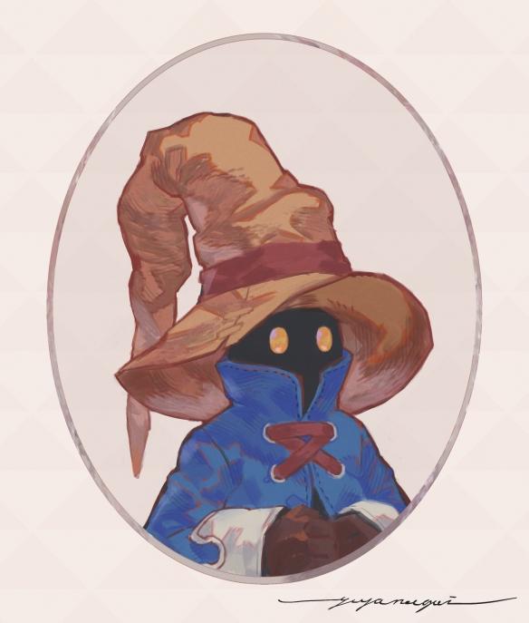 尼尔角色设计师绘制最终幻想9女主角