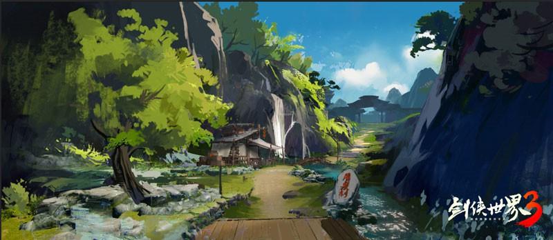 江湖美景尽收于此 《剑侠世界3》场景概念原画曝光