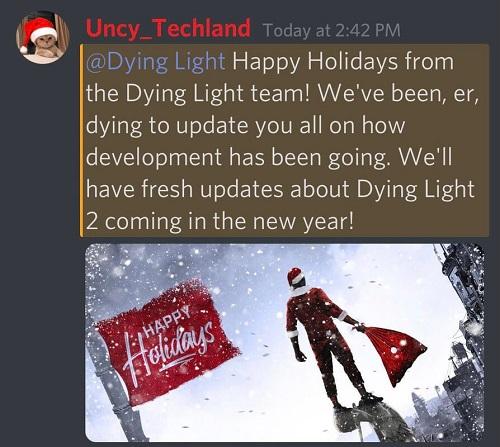 《消逝的光芒2》设计师发出消息 将在2021公布更多游戏消息