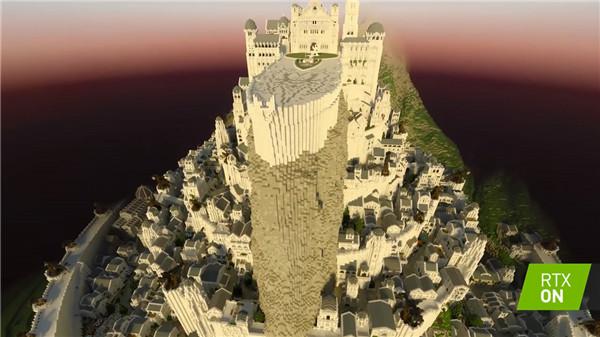 英伟达发布我的世界RTX新视频:重现指环王名城白城