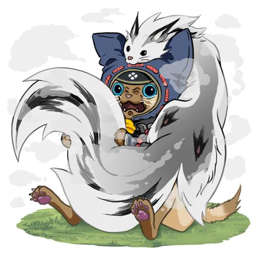 《怪物猎人:崛起》环境生物鬼火鸟、烟雪鼬等设计图
