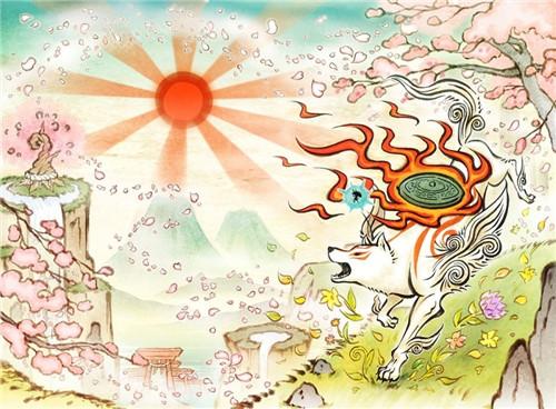 卡普空发布《大神》15周年贺图 浮世绘风精美画面