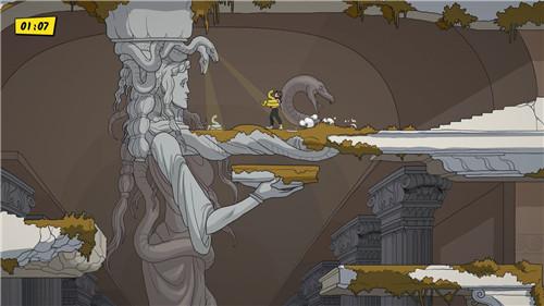 手绘2D动作游戏《爱琴海宝藏》探索失落文明