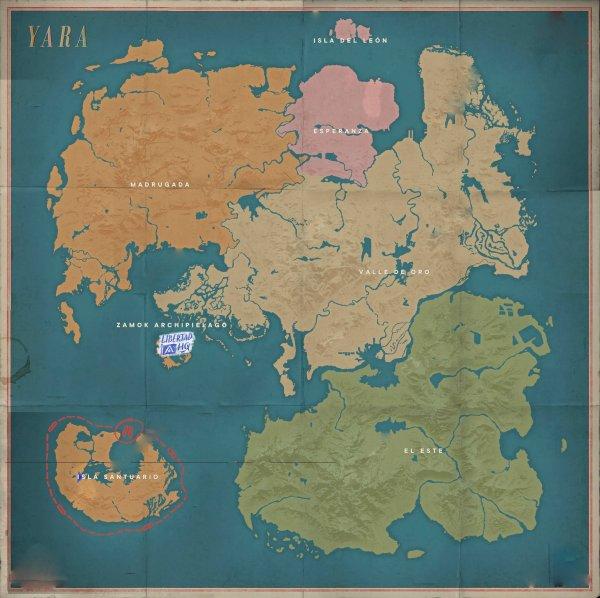 孤岛惊魂6世界地图总览