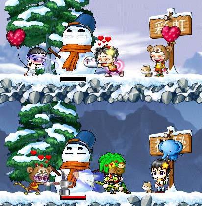 冬天打雪仗简笔画_