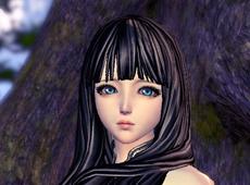 剑灵天族女捏人数据分享 蓝眸黑长直美女