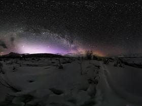 全景视频:最美星空!去阿拉斯加看梦幻极光